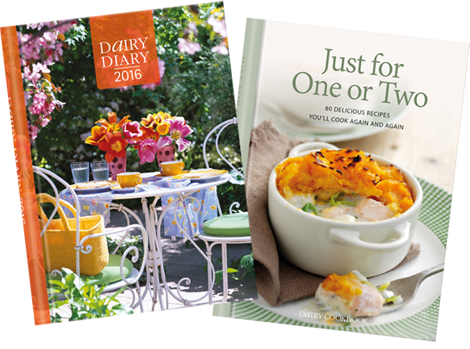 Dairy Diary 2016 and Just For One Or Two cookbook