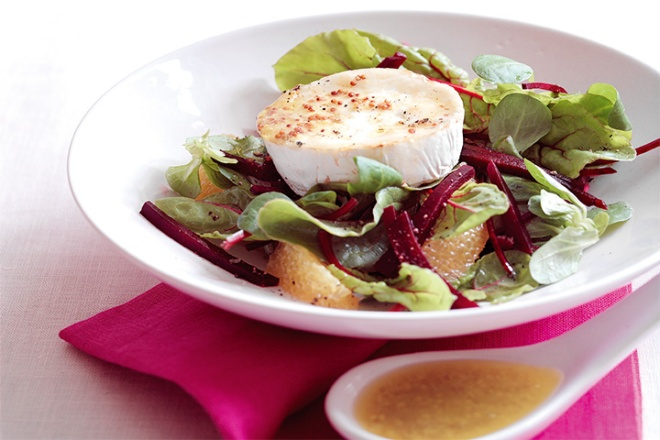 Grilled Goat's Cheese Salad