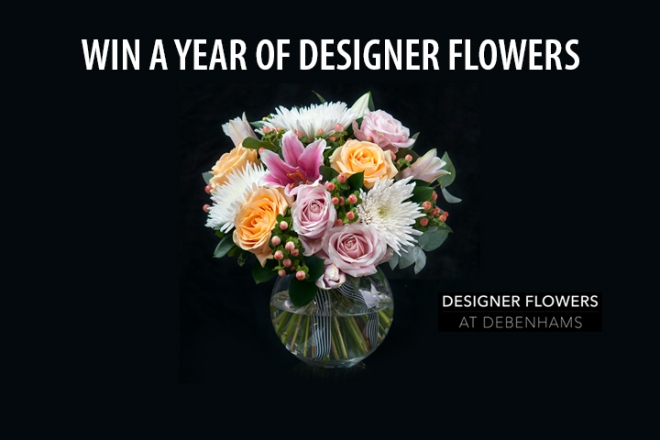 Win a year's supply of bouquets, one a month for twelve months