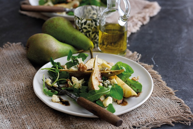 Caramelised Pear & Stilton Salad