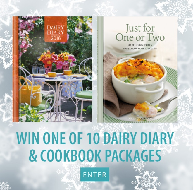 Win one of 10 Dairy Diary & Cookbook packages