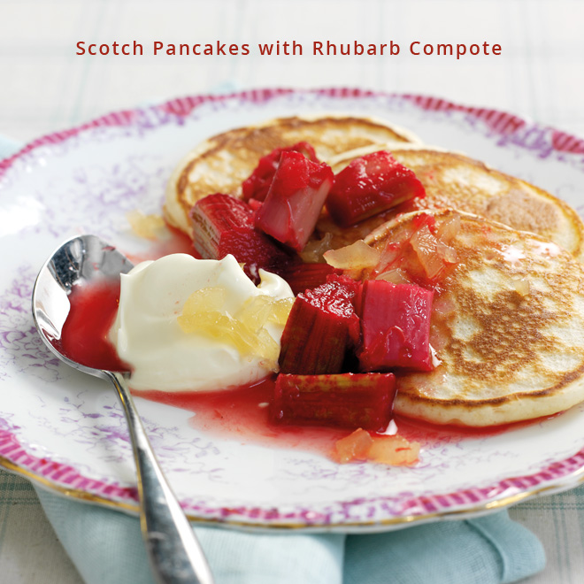 Scoth-Pancakes-with-Rubarb-Compote