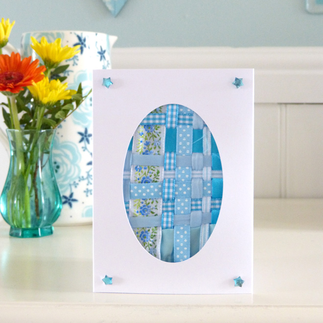 Woven Easter Card