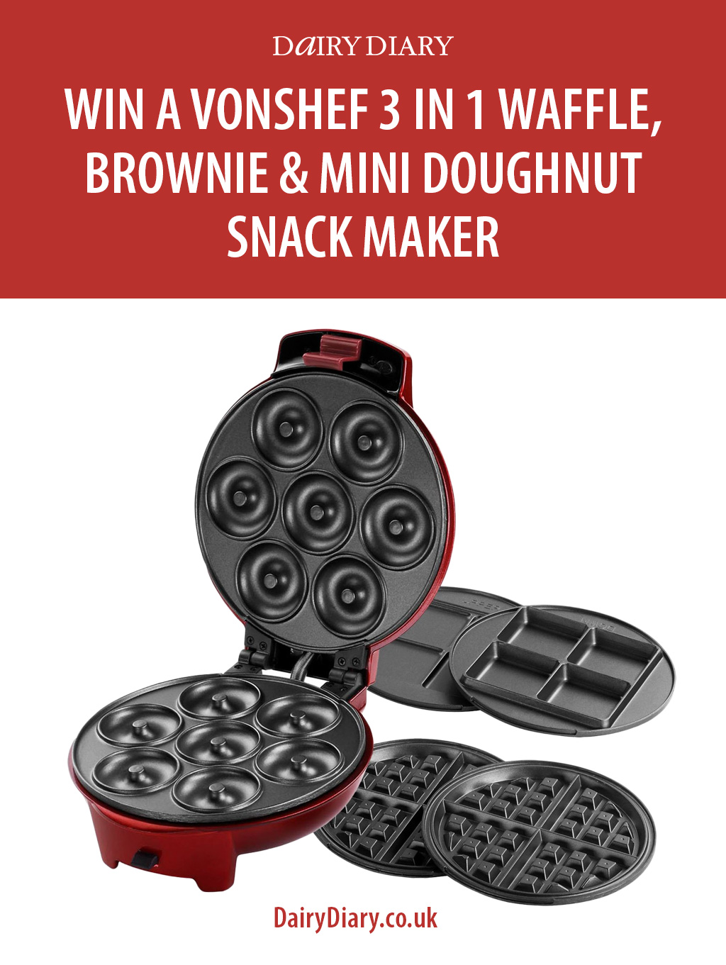 win a vonshef waffle maker dairy diary chat. Black Bedroom Furniture Sets. Home Design Ideas