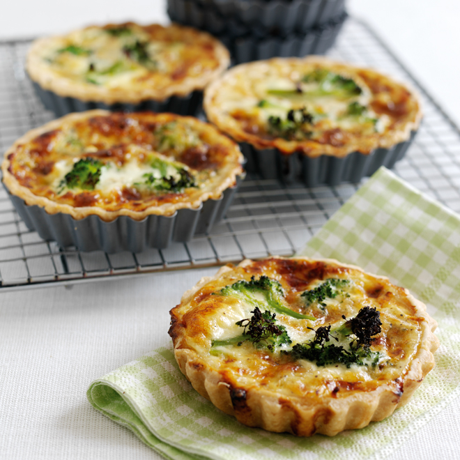 Broccoli & Stilton Quiches
