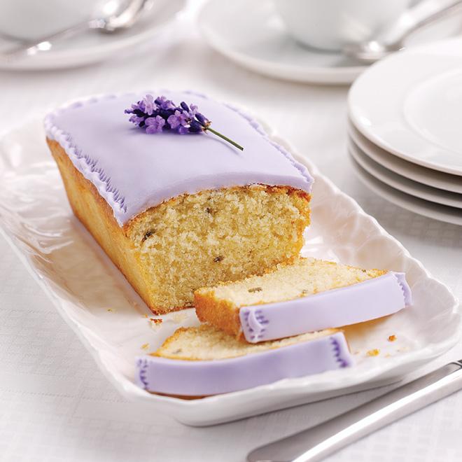 Iced Lavender Loaf