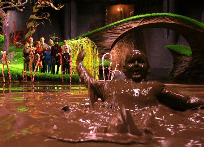 River of Chocolate Willy Wonka