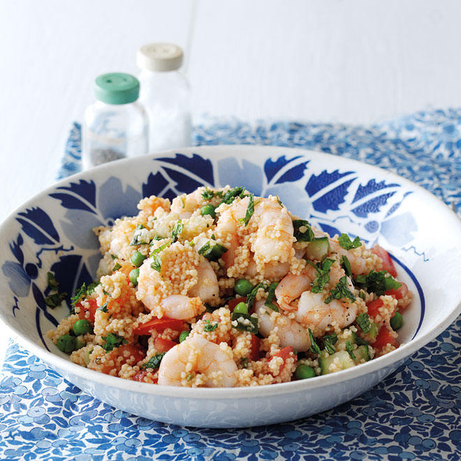 French-style Couscous with Prawns