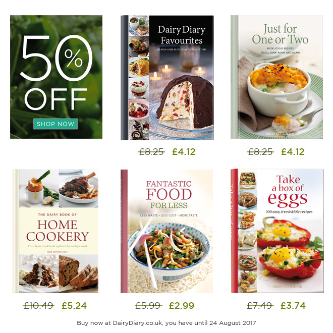 50% off these fabulous cookbooks