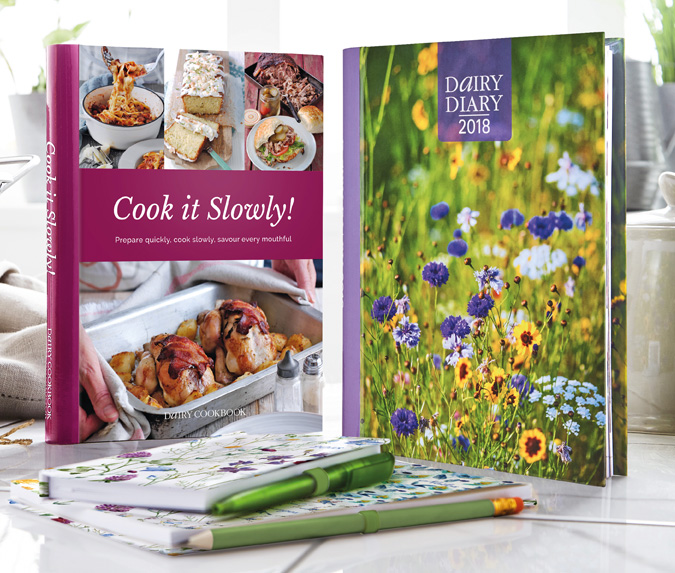 Dairy Diary 2018, Cook it Slowly! & Dairy Diary Set