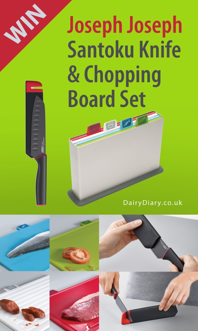 WIN a Joseph Joseph Chopping Board Set plus Slice & Sharpen Santoku Knife