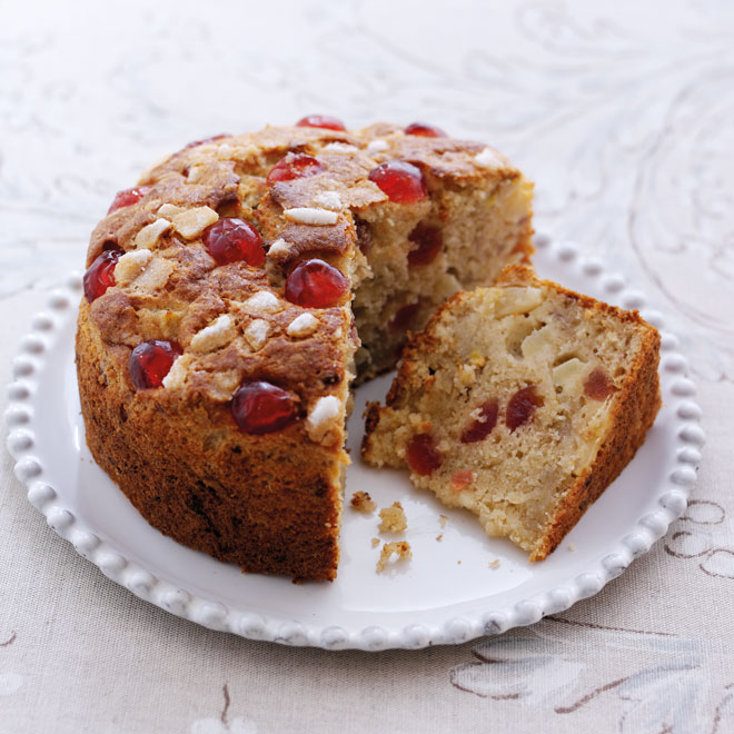 Cherry, Pineapple & Banana Cake