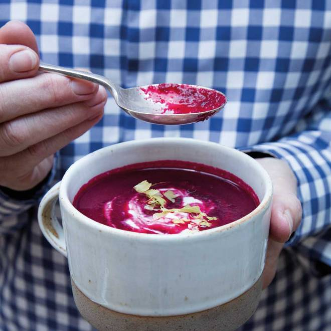 Roast Beetroot & Ginger Soup