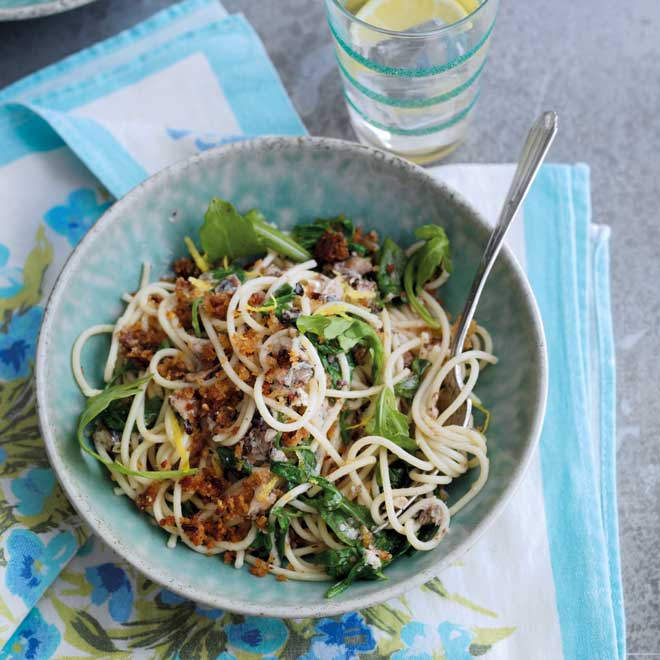 Sardine Spaghetti with Rocket