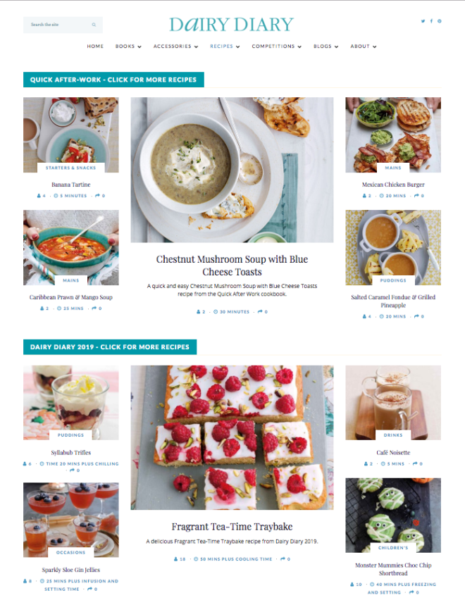 New Dairy Diary website and blog
