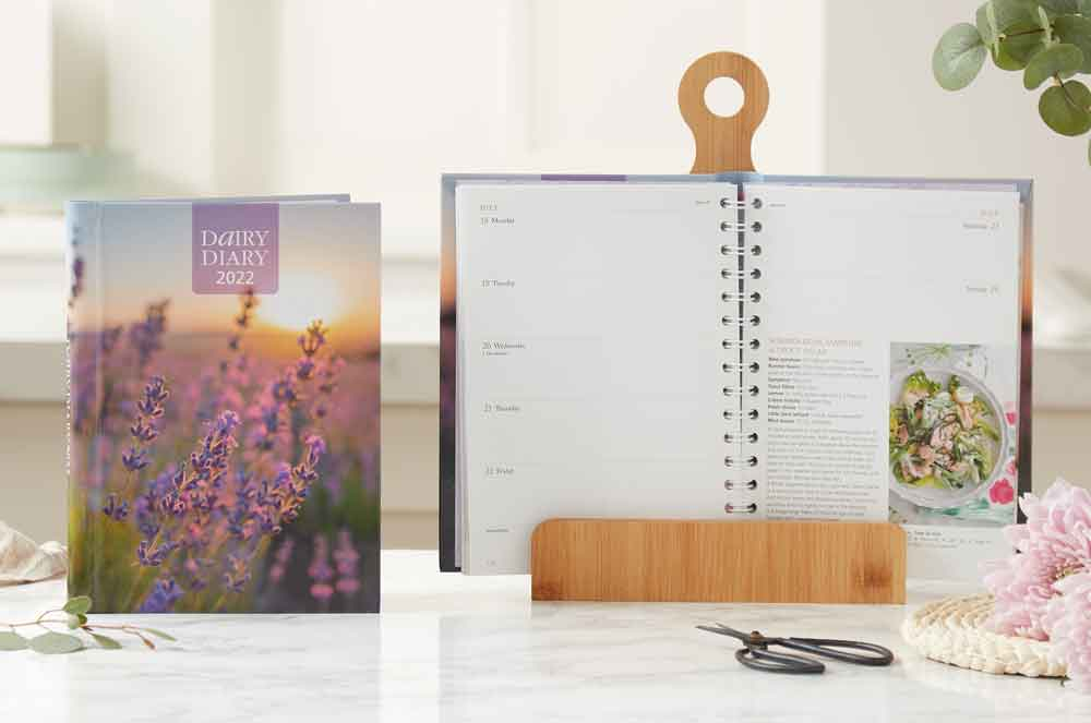 Dairy-Diary-2022-on-bookstand