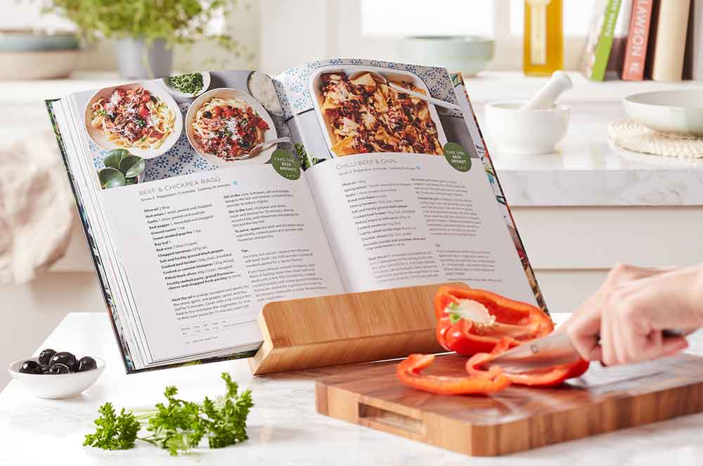 More-Taste-and-Less-Waste-Cookbook-on-stand